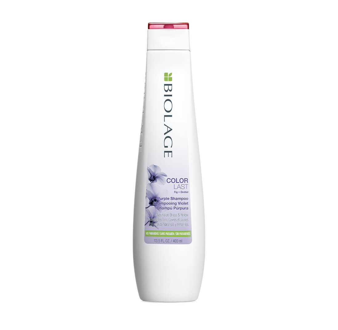 Biolage ColorLast Purple Shampoo. Toning shampoo for blonde hair.